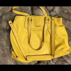 Yellow Coach Handbag